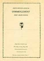 Thumbnail image of Peru High School 1932 Commencement cover