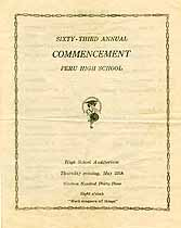 Thumbnail image of Peru High School 1933 Commencement cover