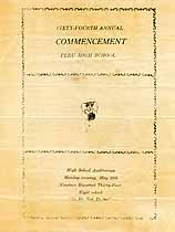Thumbnail image of Peru High School 1934 Commencement cover