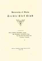 Thumbnail image of Treble Clef Club Univ. of Idaho 1917 Program cover