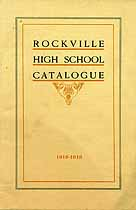 Thumbnail image of Rockville High School 1918-1919 Catalogue cover