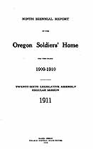 Thumbnail image of Oregon Soldiers' Home 1909-10 Report cover