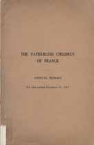 Thumbnail image of Fatherless Children of France 1917 Report cover