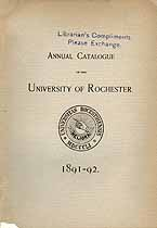 Thumbnail image of Univ. of Rochester 1891-2 Catalogue cover