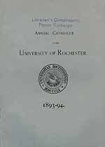 Thumbnail image of Univ. of Rochester 1893-4 Catalogue cover