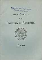 Thumbnail image of Univ. of Rochester 1895-6 Catalogue cover