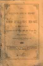 Thumbnail image of Philadelphia Odd Fellows' Home 1884 Report cover