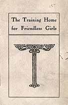 Thumbnail image of The Training Home for Friendless Girls 1908 Report cover