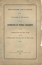 Thumbnail image of New York Society for the Reformation of Juvenile Delinquents 1881 Report cover