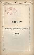 Thumbnail image of Boston Temporary Home for the Destitute 1868 Report cover