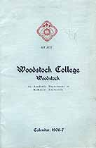 Thumbnail image of Woodstock College 1906-7 Announcement cover