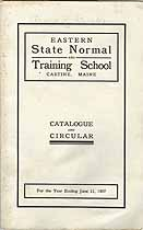 Thumbnail image of Eastern State Normal and Training School 1907 Catalogue cover