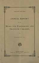 Thumbnail image of Wilmington Home for Friendless and Destitute Children 1885 Report cover