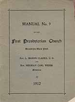 Thumbnail image of Brooklyn First Presbyterian Church 1912 Manual cover