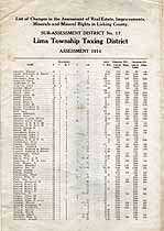 Thumbnail image of Lima Township 1914 Tax Assessment cover