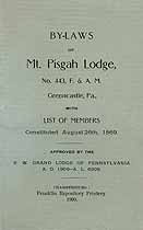 Thumbnail image of Mt. Pisgah Lodge, F. & A. M. 1909 By-Laws cover