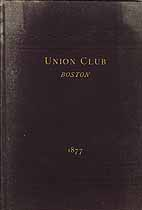 Thumbnail image of Boston Union Club 1877 Membership cover