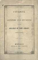 Thumbnail image of College of New Jersey 1844-45 Catalogue cover