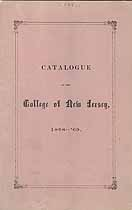 Thumbnail image of College of New Jersey 1868-69 Catalogue cover