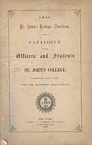 Thumbnail image of St. John's College 1866 Catalogue cover