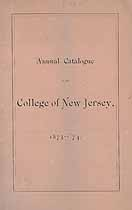 Thumbnail image of College of New Jersey 1873-74 Catalogue cover