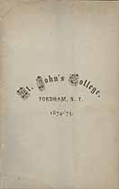 Thumbnail image of St. John's College 1874-75 Catalogue cover