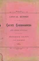 Thumbnail image of Merrimack County Commissioners 1886 Report cover