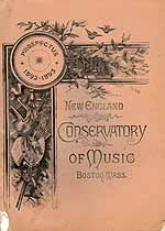 Thumbnail image of New England Conservatory of Music 1892-1893 Prospectus cover