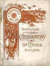 Thumbnail image of New England Conservatory of Music 1894-1895 Prospectus cover