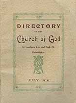 Thumbnail image of Philadelphia Church of God 1916 Directory cover