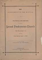 Thumbnail image of Cleveland Second Presbyterian Church 1886 Supplement cover