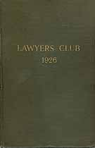 Thumbnail image of Lawyers' Club 1926 Membership cover