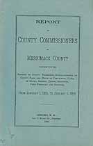 Thumbnail image of Merrimack County Commissioners 1905 Report cover