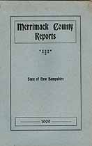 Thumbnail image of Merrimack County Commissioners 1909 Report cover