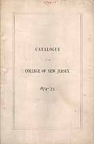 Thumbnail image of College of New Jersey 1874-75 Catalogue cover