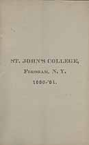Thumbnail image of St. John's College 1880-81 Catalogue cover