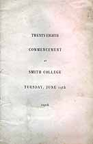 Thumbnail image of Smith College 1906 Commencement cover