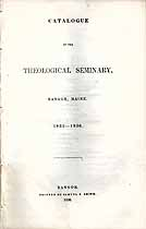 Thumbnail image of Bangor Theological Seminary 1835-36 Catalogue cover