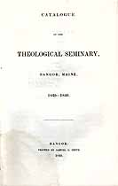 Thumbnail image of Bangor Theological Seminary 1839-40 Catalogue cover