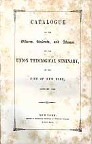 Thumbnail image of Union Theological Seminary N.Y.C. 1846 Catalogue cover