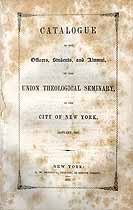 Thumbnail image of Union Theological Seminary N.Y.C. 1847 Catalogue cover