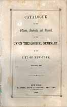 Thumbnail image of Union Theological Seminary N.Y.C. 1849 Catalogue cover