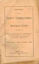 Thumbnail image of Merrimack County Commissioners 1899 Report cover