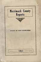 Thumbnail image of Merrimack County Commissioners 1911 Report cover