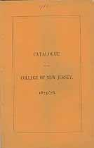 Thumbnail image of College of New Jersey 1875-76 Catalogue cover