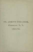 Thumbnail image of St. John's College 1883-84 Catalogue cover