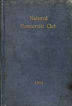 Thumbnail image of National Democratic Club 1924 cover