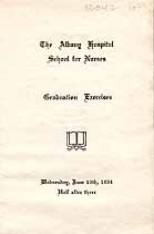 Thumbnail image of Albany Hospital School for Nurses 1934 Graduation cover