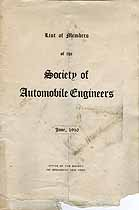 Thumbnail image of Society of Automobile Engineers 1910 Members cover