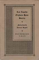 Thumbnail image of Los Angeles Orphans' Home Society 1925 Report cover